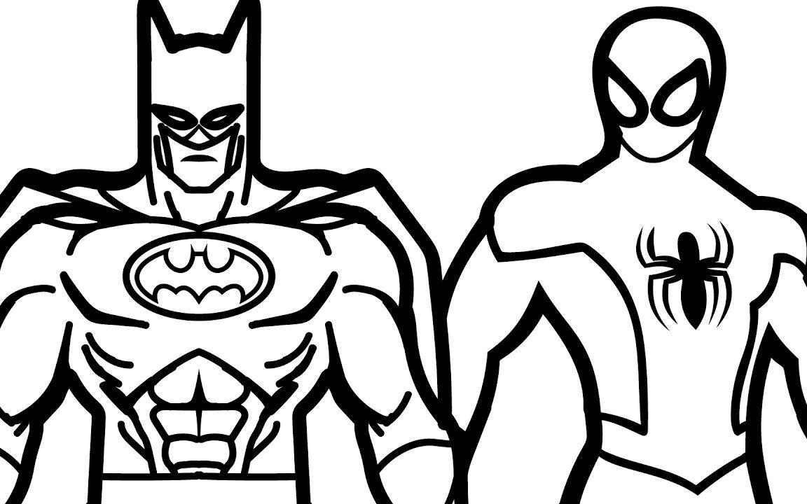 1152x720 Action Cartoon Batman Coloring Pages Superhero Printable Cartoons