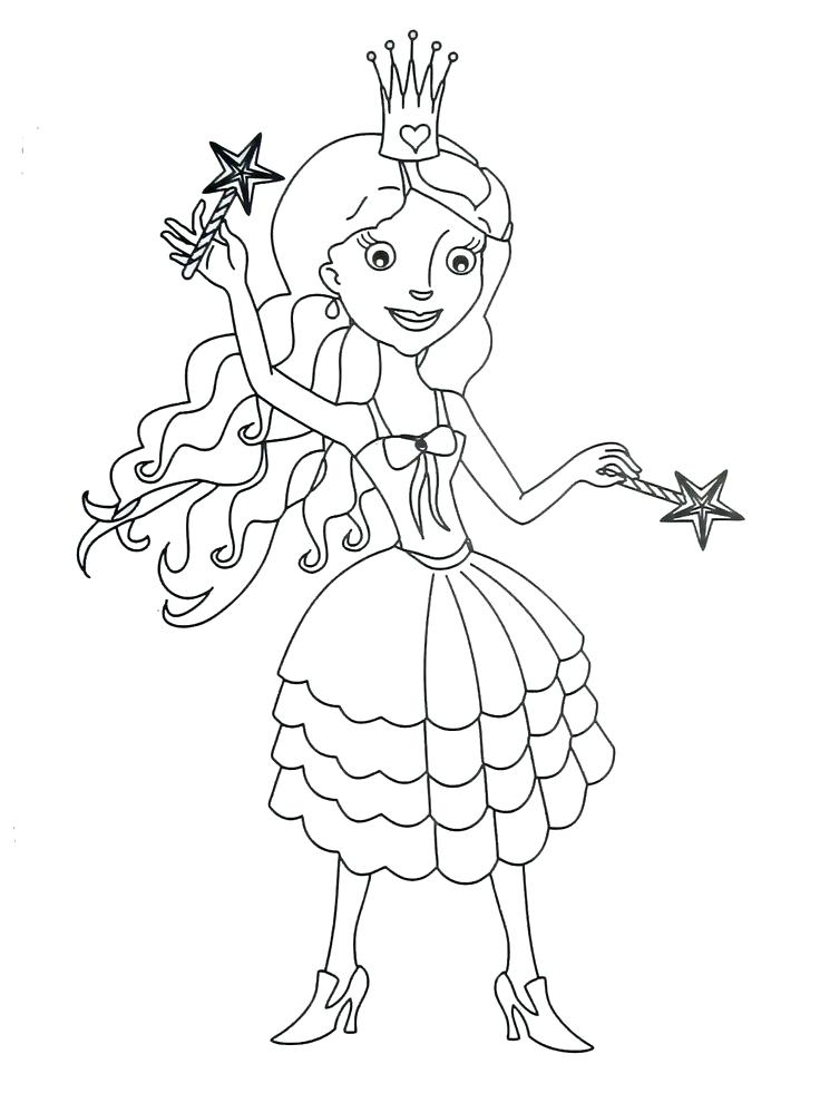 736x981 Coloring Books Pages Princess Coloring Book Page For Kids