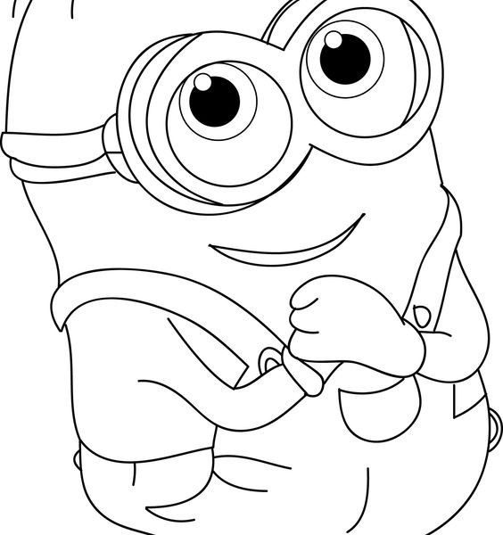 564x600 Pictures For Kids To Color Coloring Page