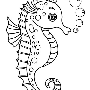 300x300 An Outline Drawing Of Seahorse Coloring Page Kids Play Color
