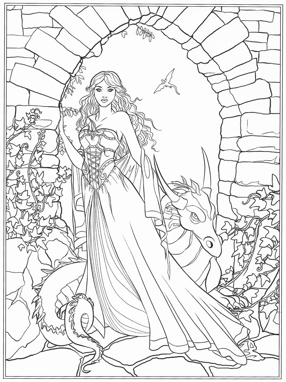 1200x1601 Free Coloring Page Coloring Adult Arianrhod Celtic Goddess