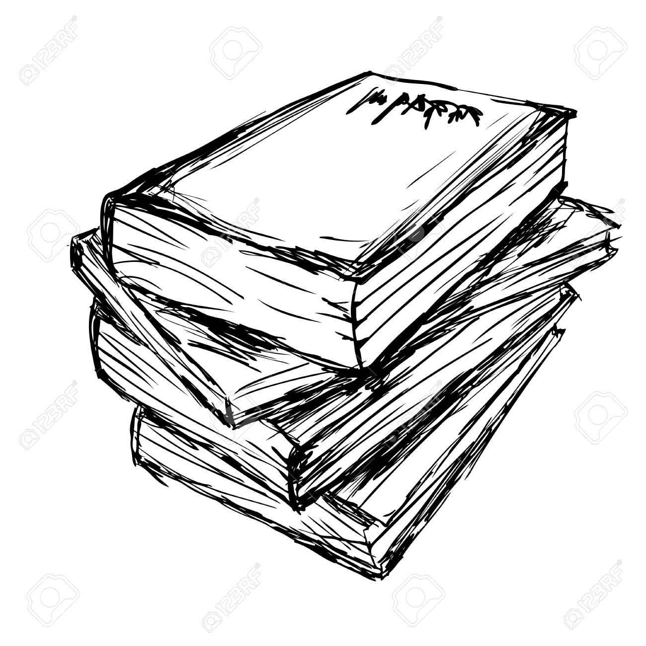 1300x1300 Vector Drawing A Pile Of Books Royalty Free Cliparts, Vectors,