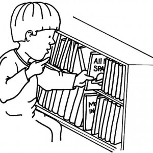 300x300 Kids Drawing Bookshelf Coloring Pages Best Place To Color