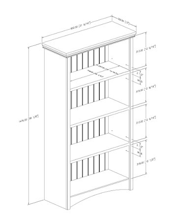 Bookshelves Drawing