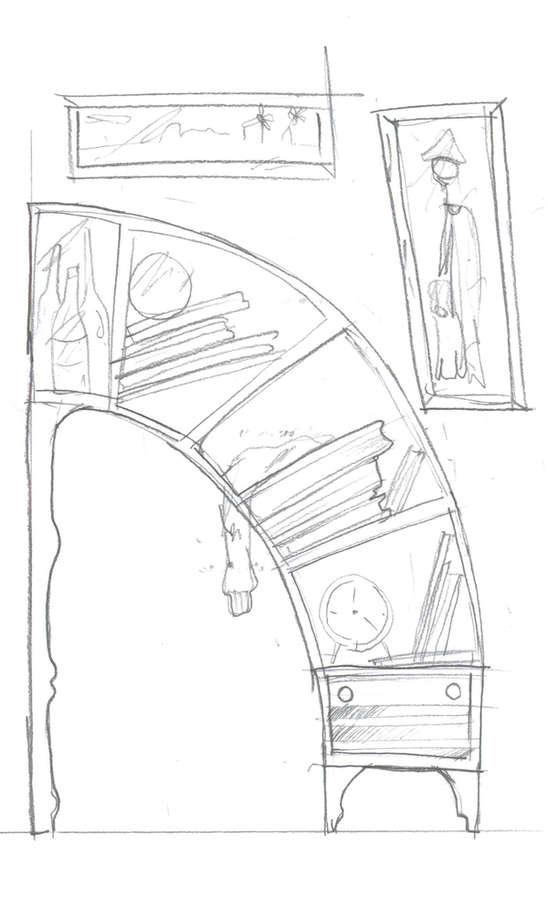 548x897 Oddly Curved Bookcases Unique Design Orangizer