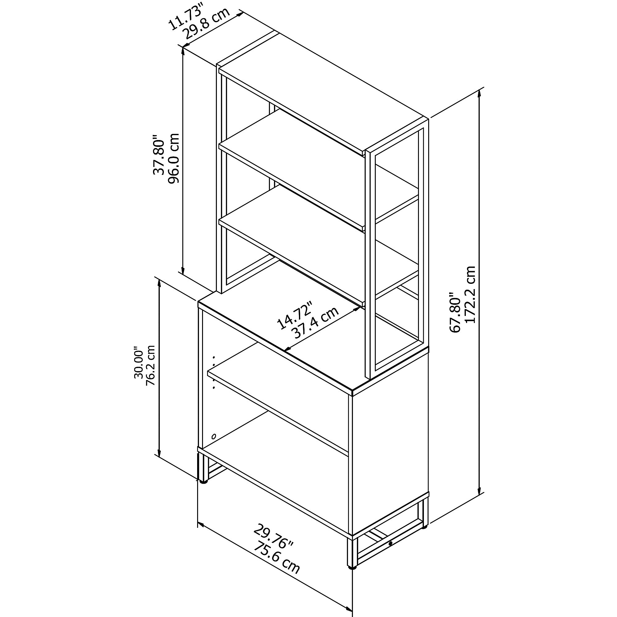 alice tier today decorotika bookcase product shipping free corner garden accent overstock home bookcases