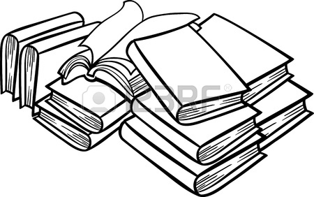450x282 Set Of Old Books Drawings Pile Of Books Open Book Royalty Free