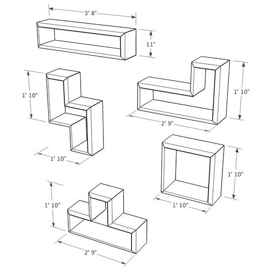 550x550 Tetris Style Bookcase Dimensions Brave Space Design Tetrad Mega