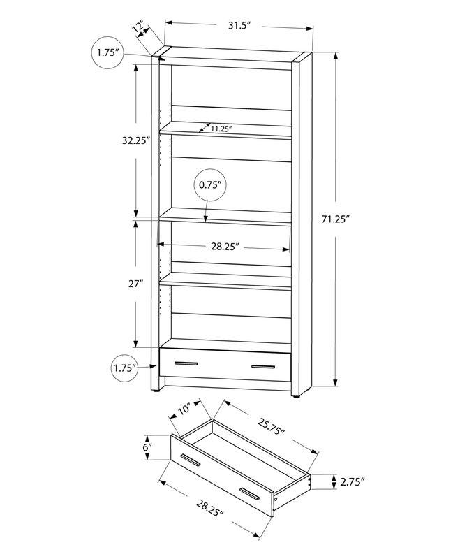 659x800 Wade Logan Mcmillan Standard Bookcase Amp Reviews Wayfair