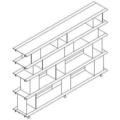400x400 Zoll D Moormann Modular Bookshelf