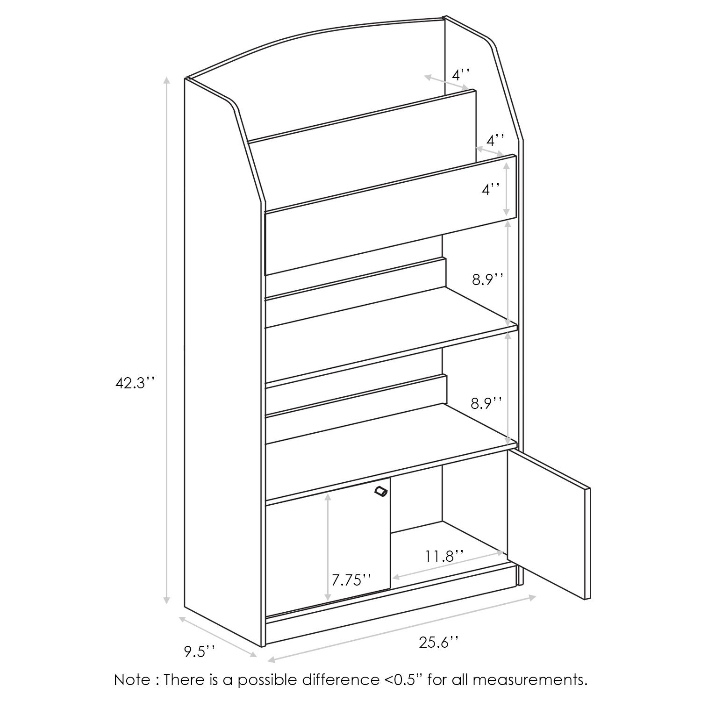 1500x1500 Furinno Kidkanac Magazineookshelf With Toy Storage Cabinet