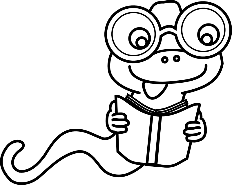 800x638 Bookworm Clipart Black And White
