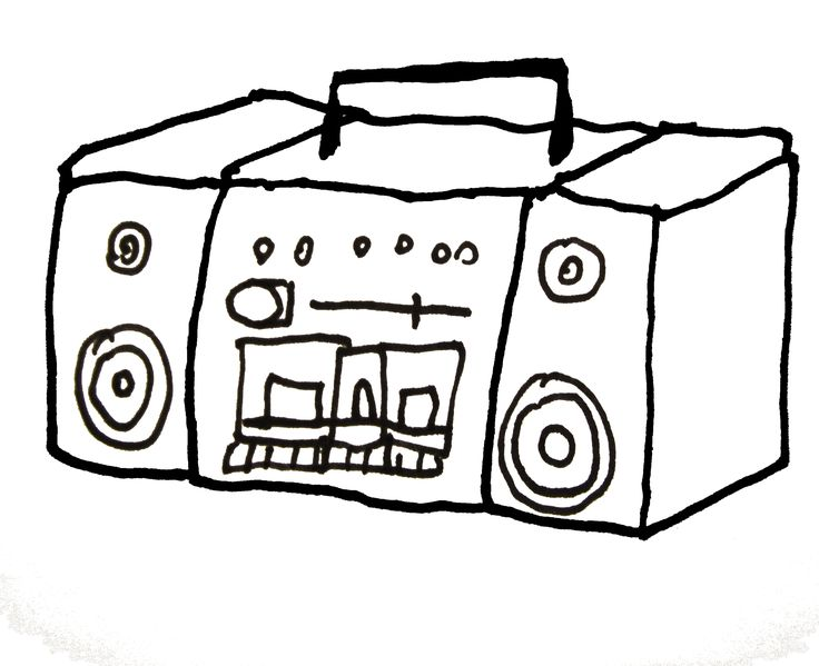 Boom Box Drawing