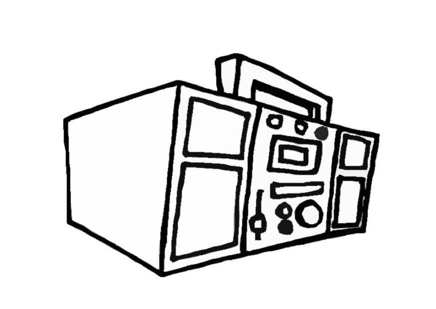 875x620 Coloring Page Boom Box