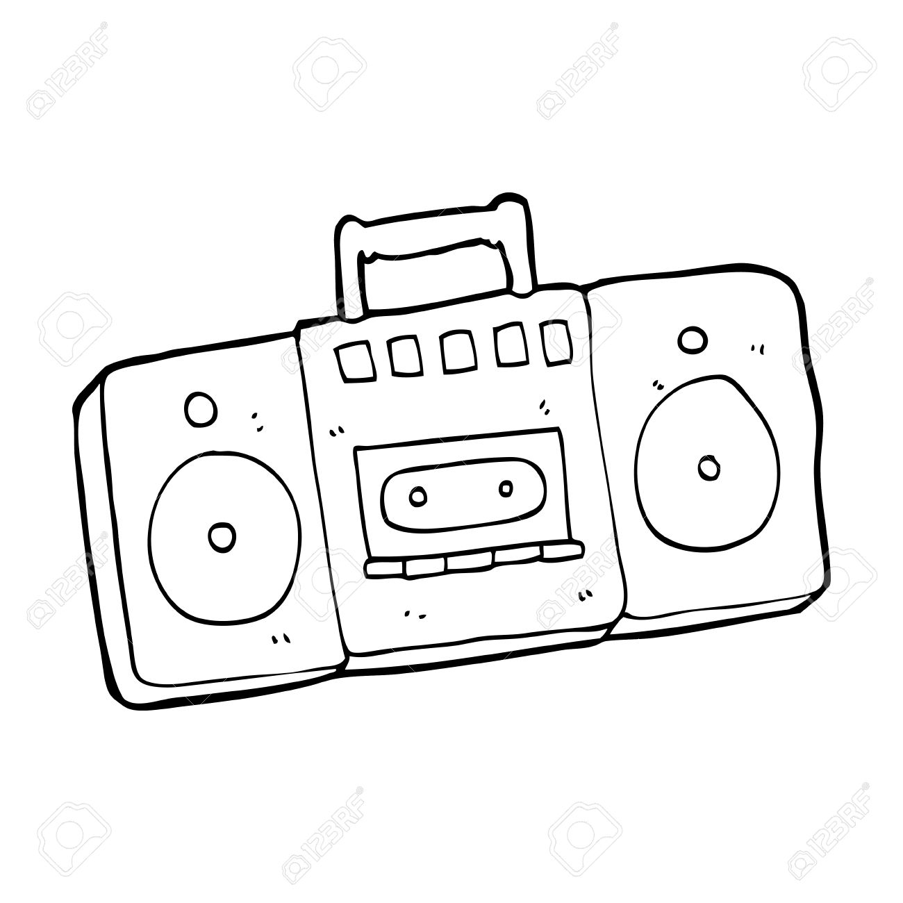 1300x1300 Drawing Of A Radio Boombox Radio Stock Image