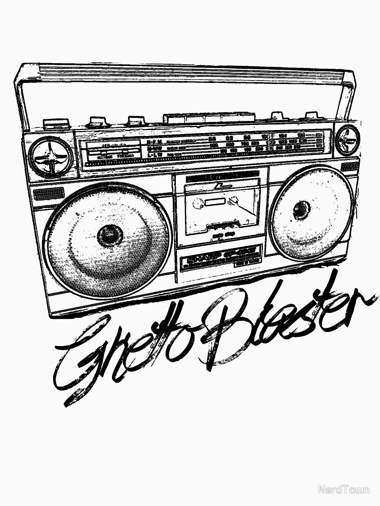750x1000 Ghetto Blaster 80's Boombox Women's Fitted Scoop T Shirt By