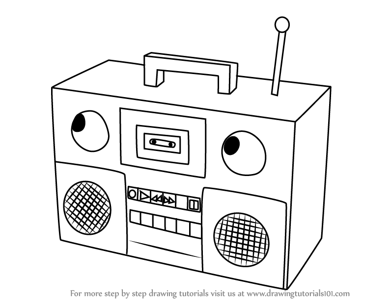 796x616 Learn How To Draw Boombox From Don'T Hug Me I'M Scared (Don'T Hug