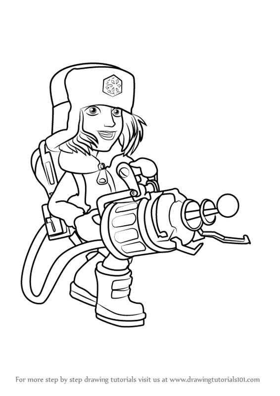 566x800 Learn How To Draw Cryoneer From Boom Beach (Boom Beach) Step By