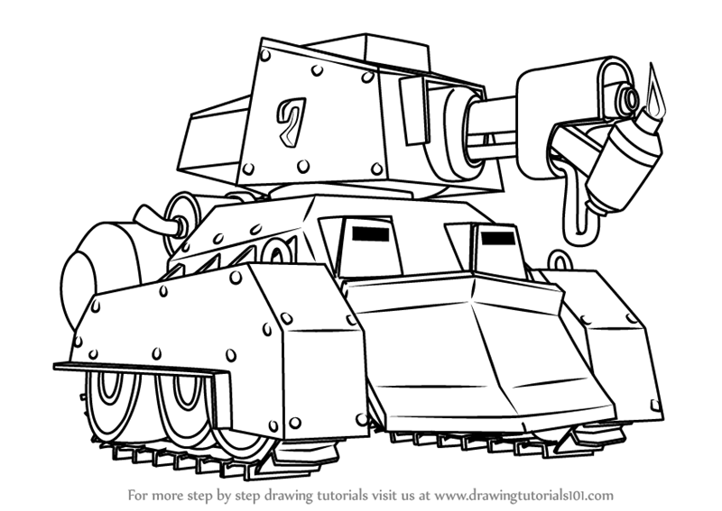 800x567 Learn How To Draw Scorcher From Boom Beach (Boom Beach) Step By