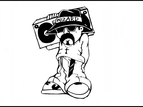 480x360 Drawing A Cholito With A Boombox