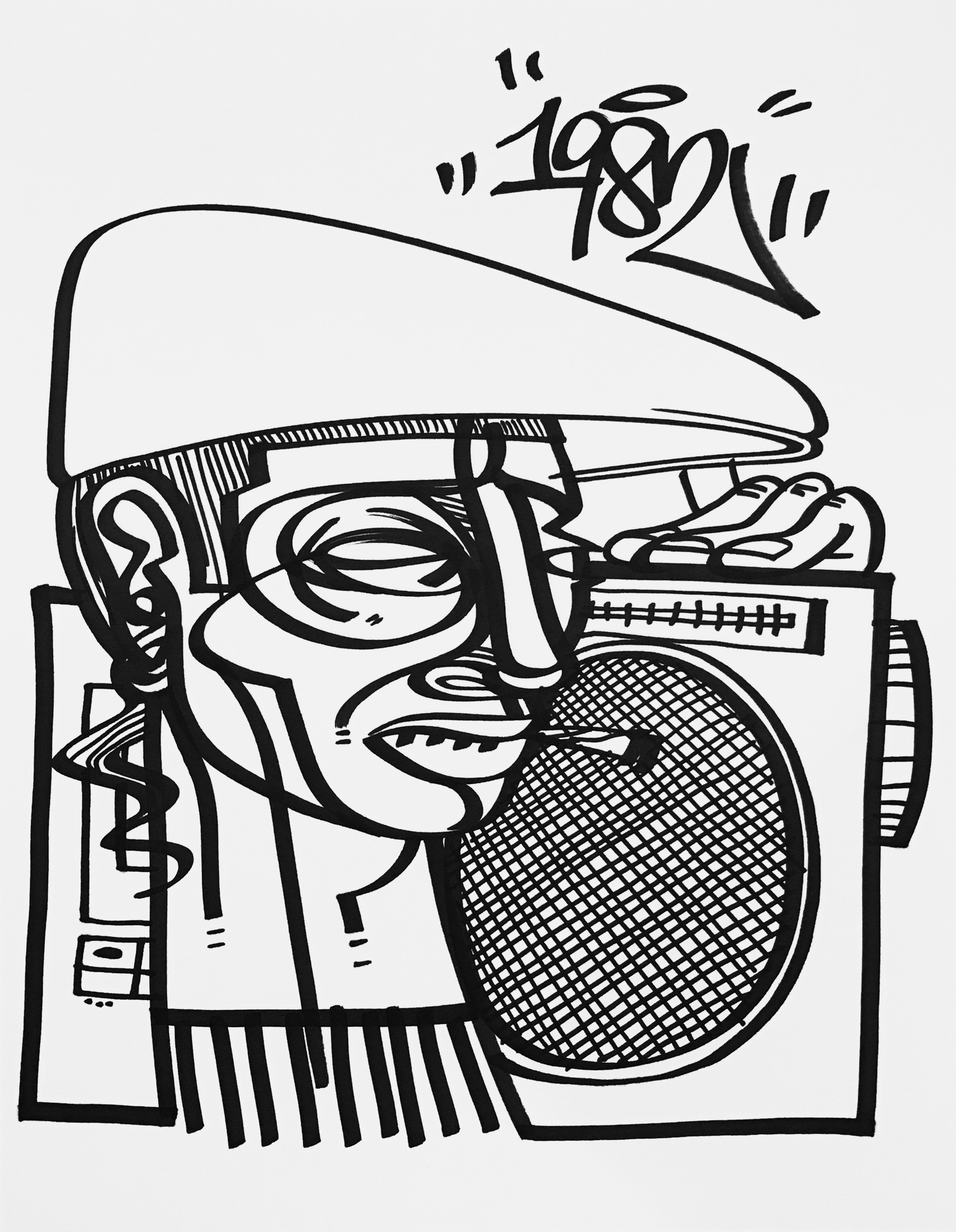 Boombox Drawing at GetDrawings.com | Free for personal use Boombox ...
