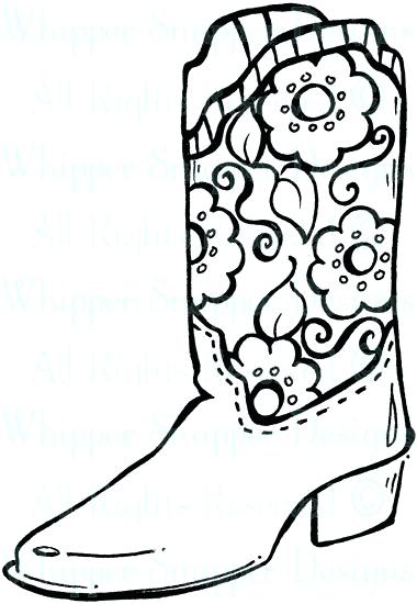 380x550 Cowboy Boot Coloring Page Click The Cowboy Boot With Spur Coloring