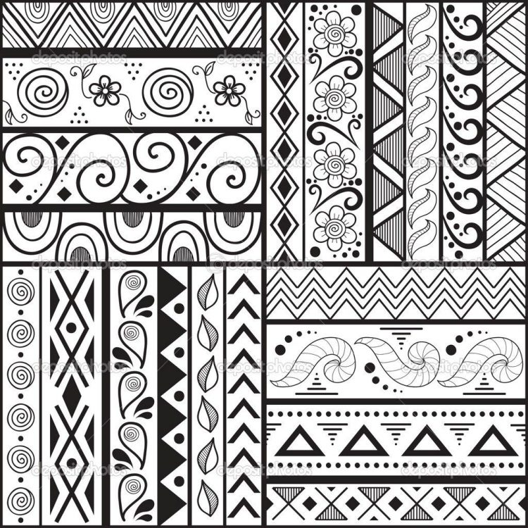 750x750 Cute Designs Drawing Easy Patterns To Draw With Border