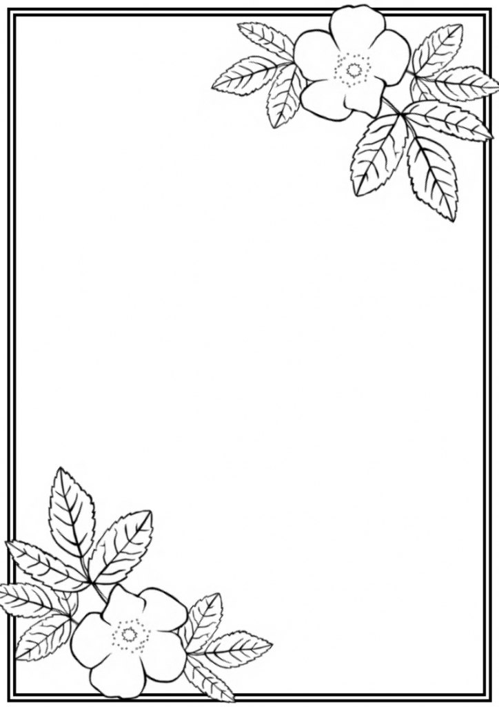 724x1024 Flower Border Drawing Flower Border Drawing