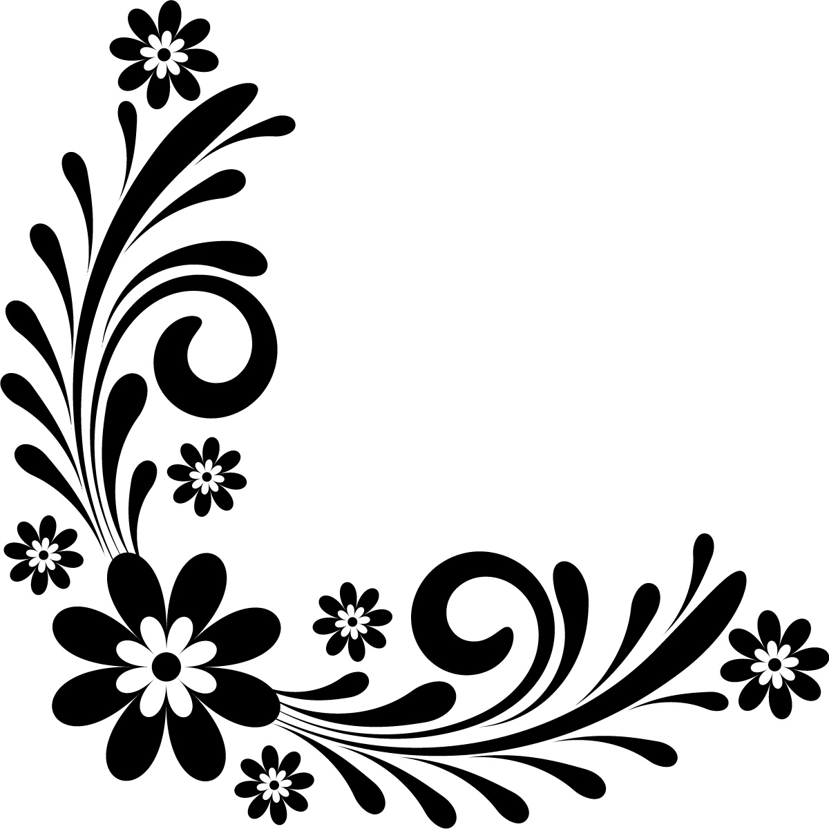 1200x1200 Flower Corner Border Designs Tattoos Pinterest Headboard