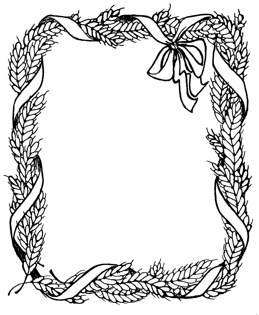 843x1024 Pencil Sketch Of Border Design Pictures Border Design Using
