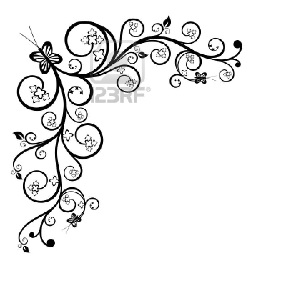 1200x1200 Pictures Simple Flower Border Designs To Draw,