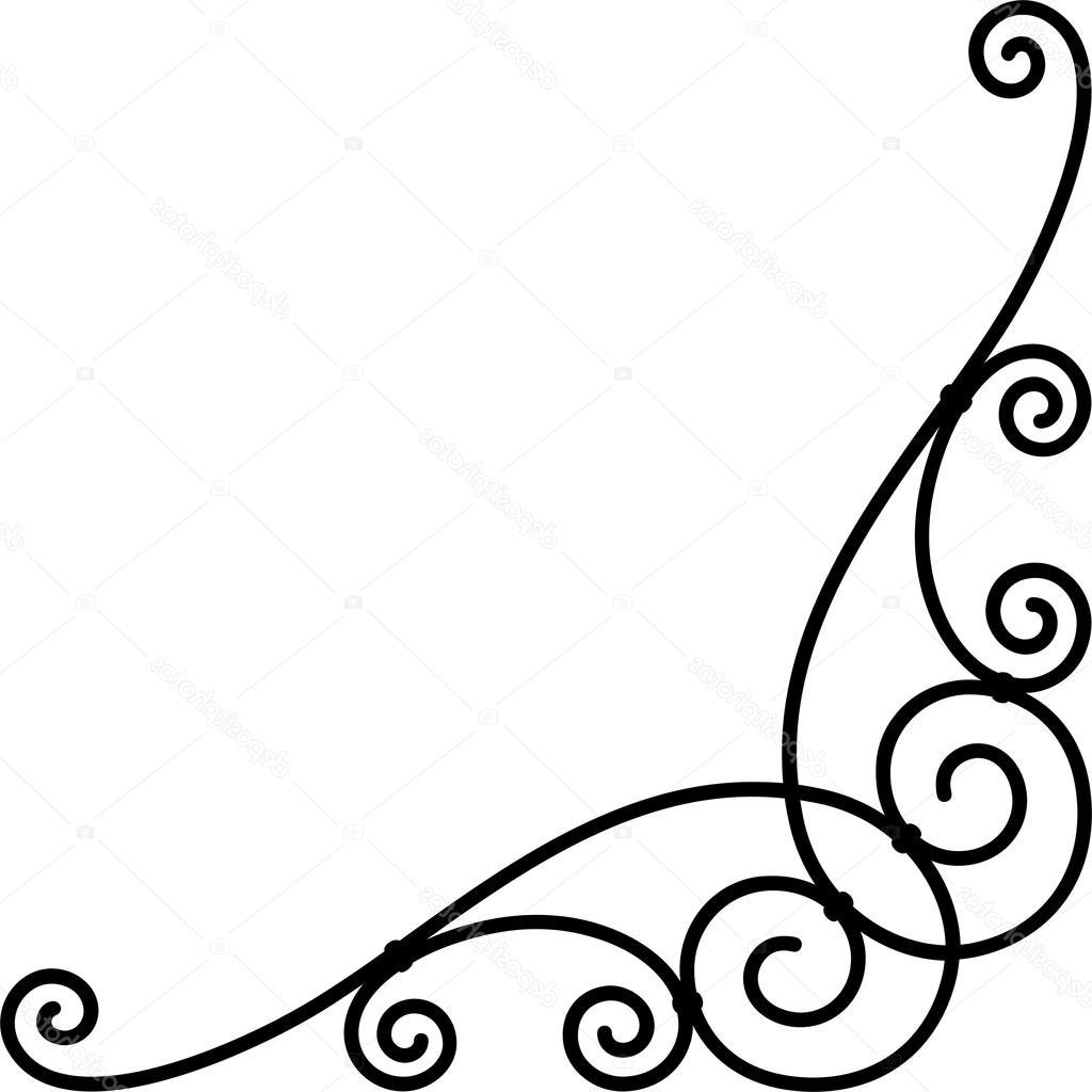 1024x1024 Unique Stock Illustration Corner Border Design Drawing