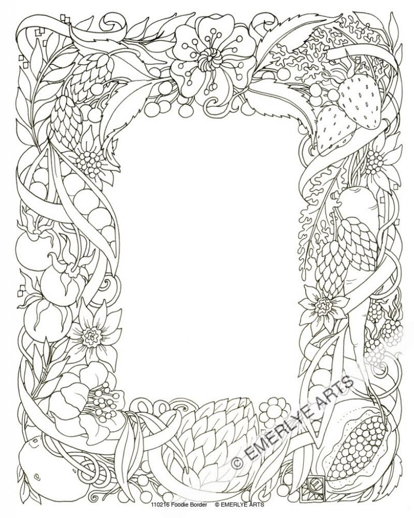 819x1024 Border Pencil Paintings Pencil Sketch Rose Page Border Design