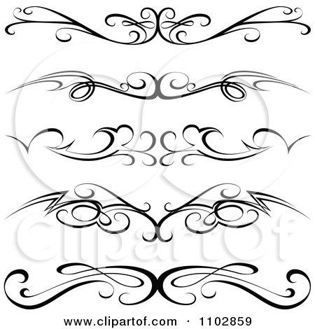 450x470 Clipart Black Tribal Tramp Stamp Tattoos Or Rule Border Design
