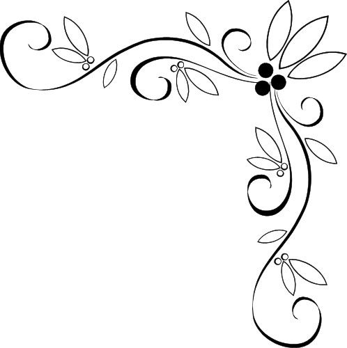 498x500 Free. Page Border Designs Fancy Vine Corner Border Design Image