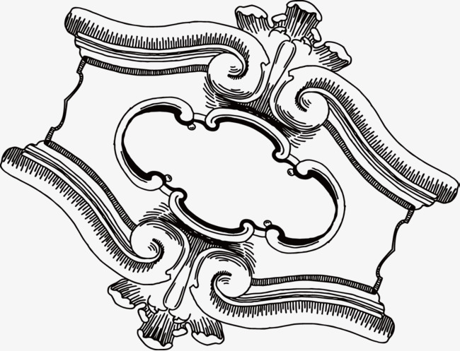 650x497 Border Sketch, Exquisite Pattern, Vector, Hand Drawing, Frame,