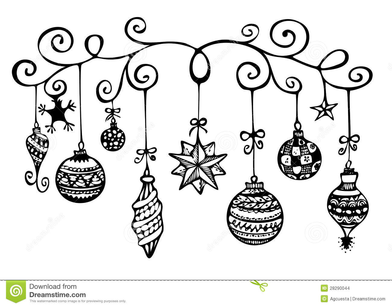 1300x1018 Christmas Border Black And White Christmas Ornament Drawing