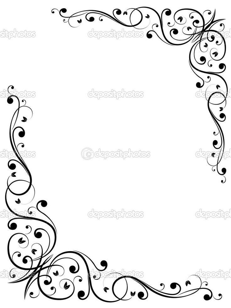 736x981 Drawn Toad Border Clip Art