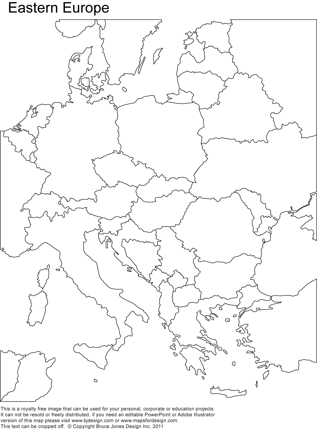 1084x1467 Eastern Europe Printable Blank Map Royalty Free Country Borders