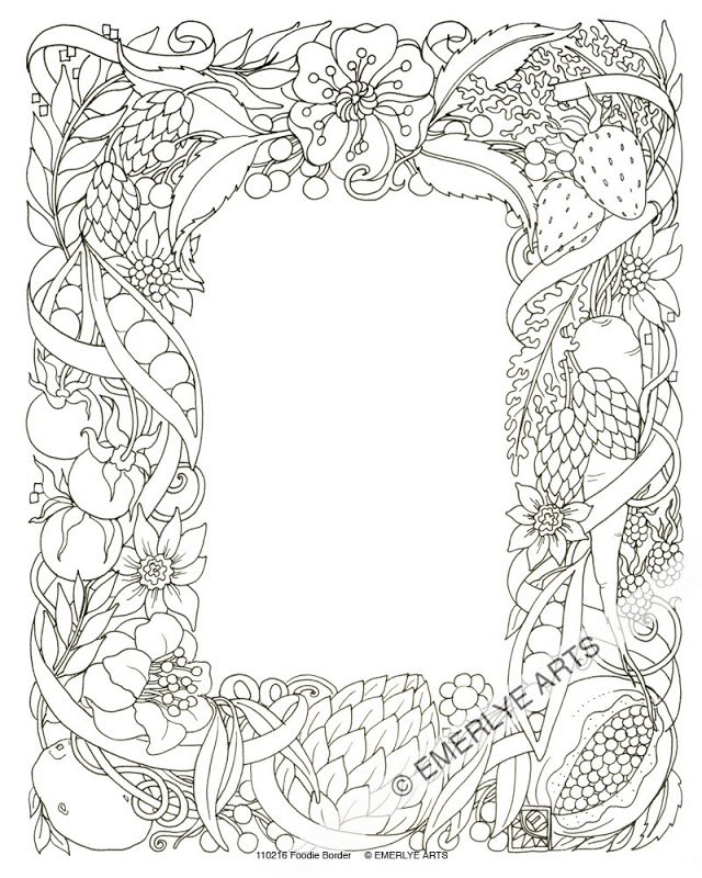 640x800 Border Coloring Pages Full Page Borders Coloring