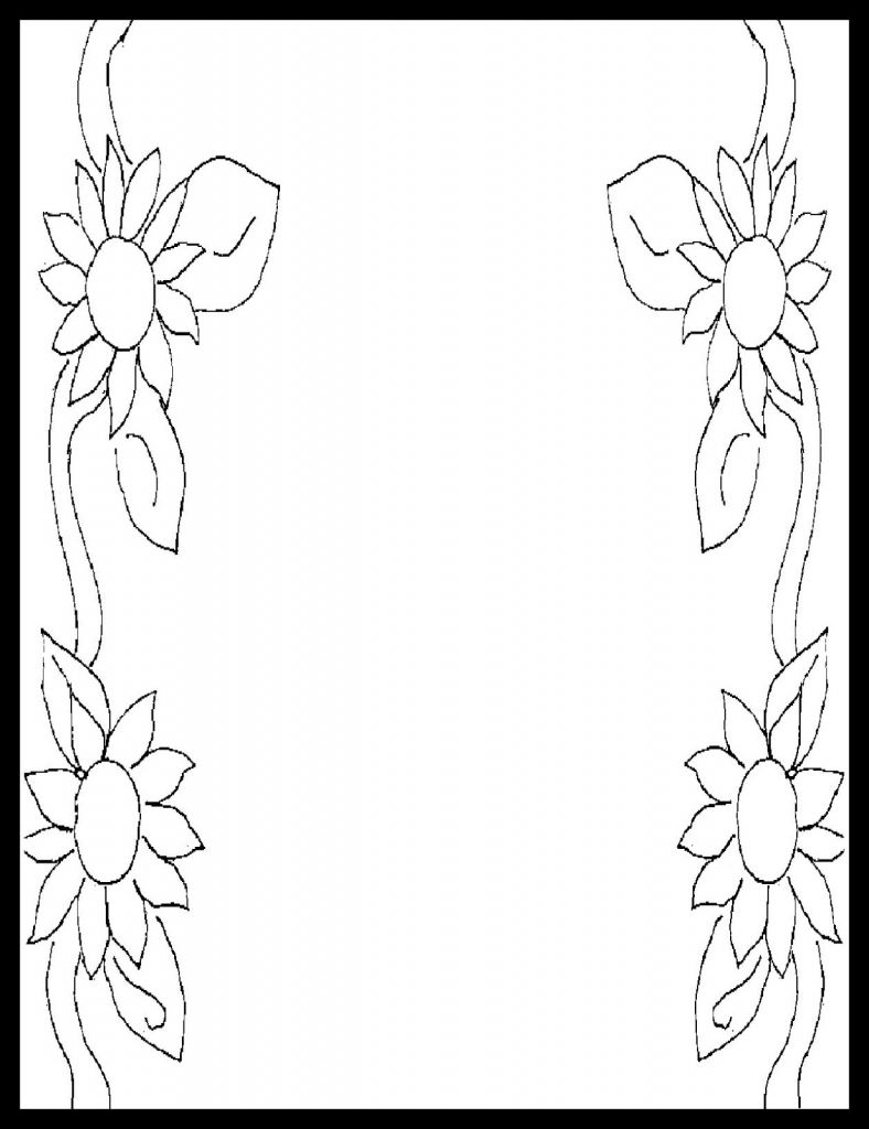 788x1024 Pencil Sketch Of Border Design Design Picture Pencil Sketch Page