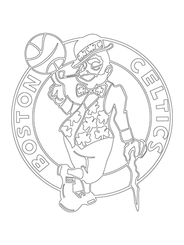360x480 Boston Celtics Logo Coloring Page Free Printable Coloring Pages