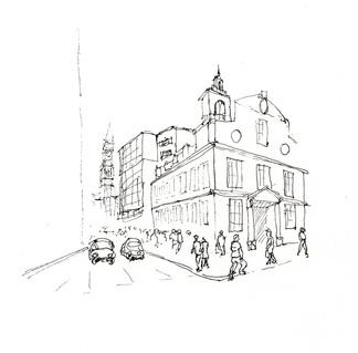 324x319 Urban Sketching Tutorial Starting A Sketch