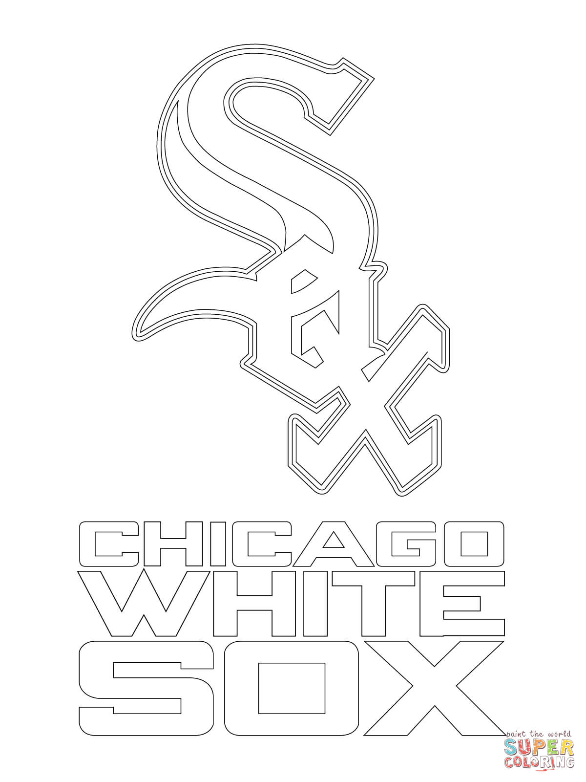 1200x1600 Chicago White Sox Logo Coloring Page Free Printable Coloring Pages