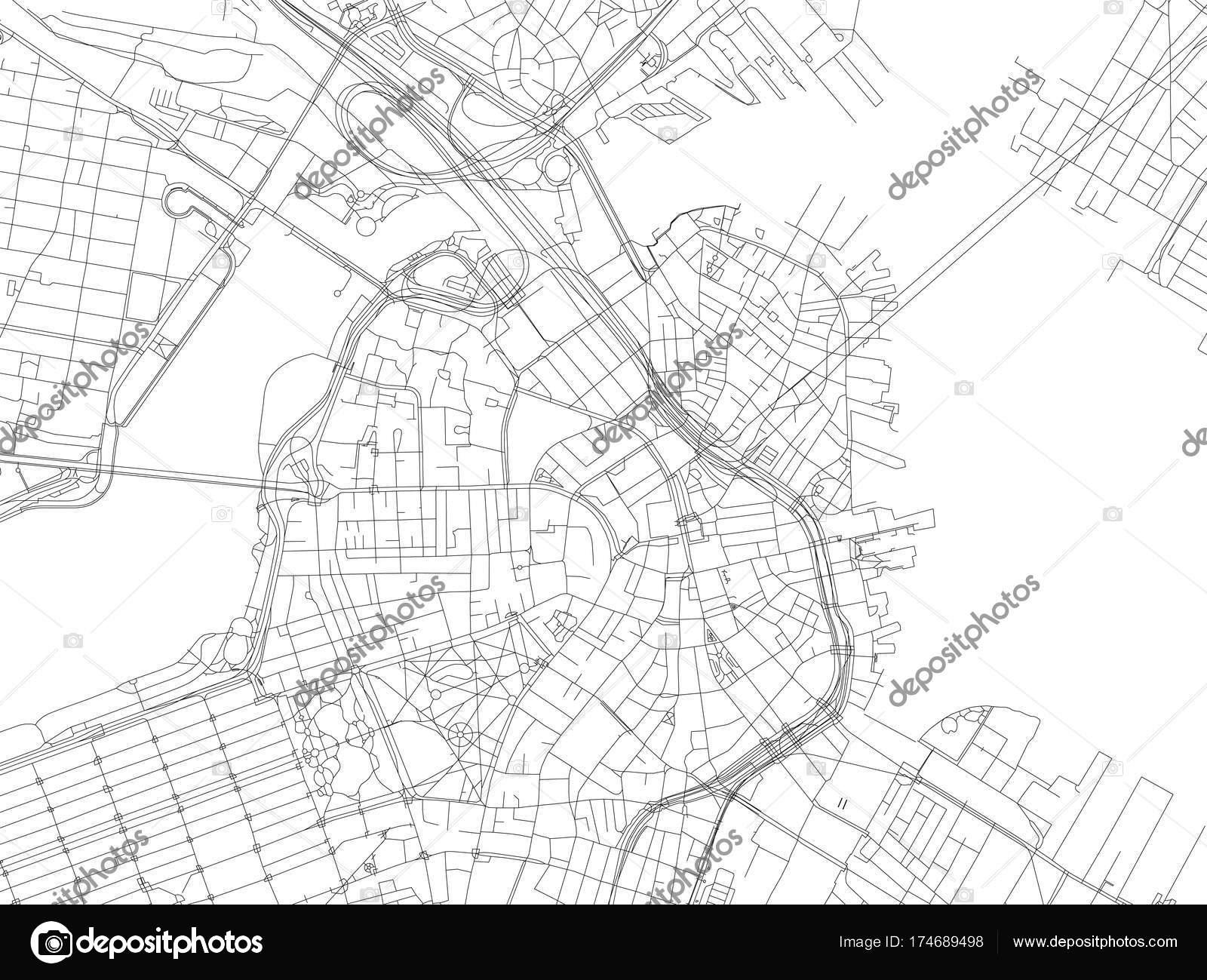 1600x1299 Streets Of Boston, City Map, Massachusetts, United States. Street