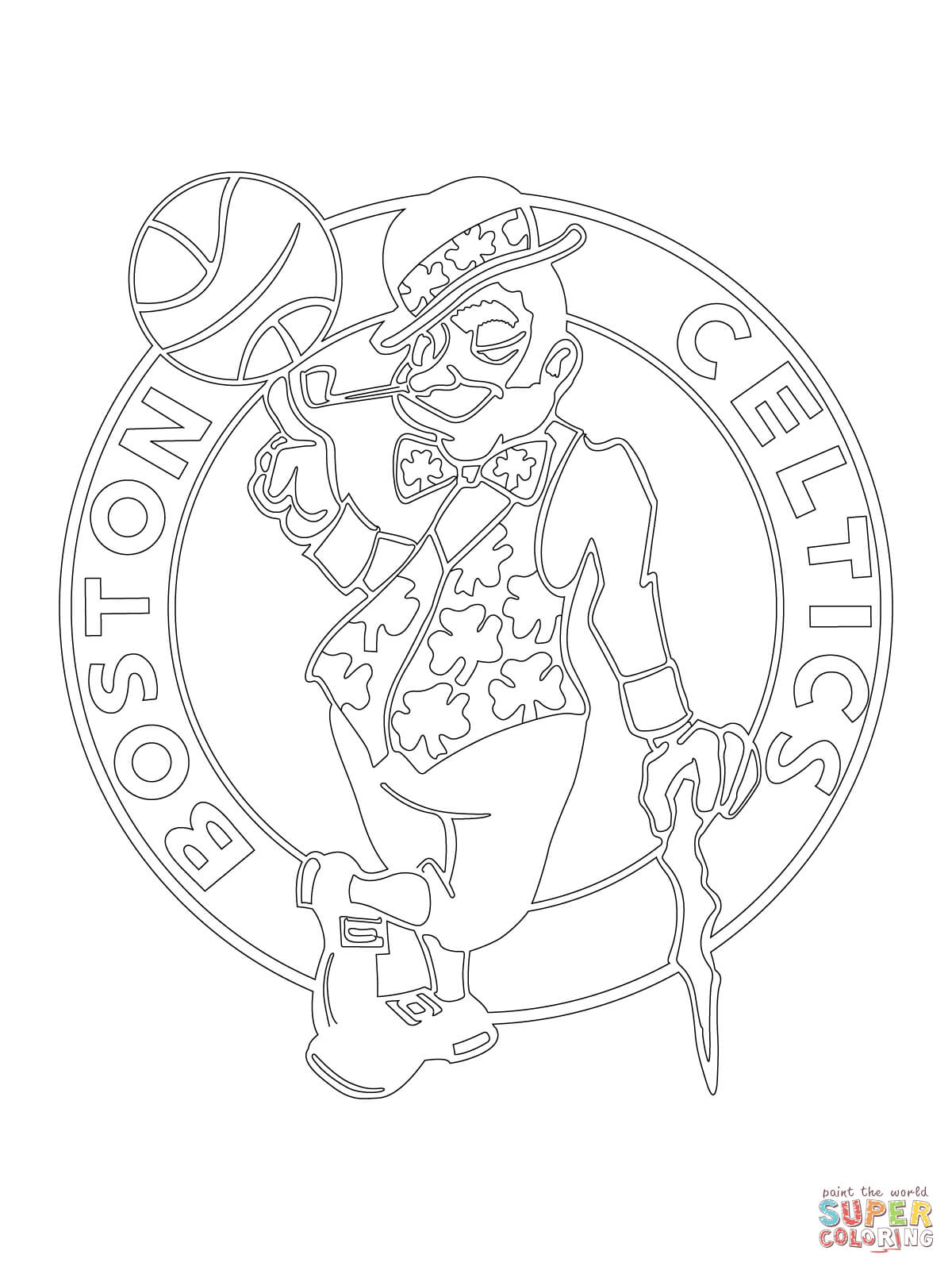 1200x1600 Boston Celtics Logo Coloring Page Free Printable Coloring Pages