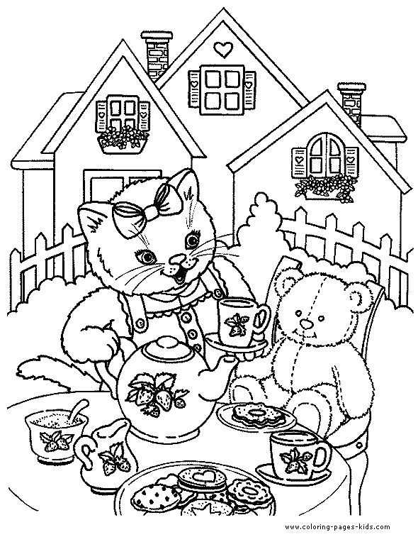 590x757 Charming Fancy Nancy Tea Party Coloring Pages Photos