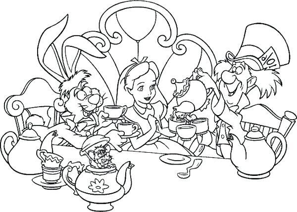 600x429 Tea Party Coloring Pages Plus Tea Party Coloring Page Boston Tea