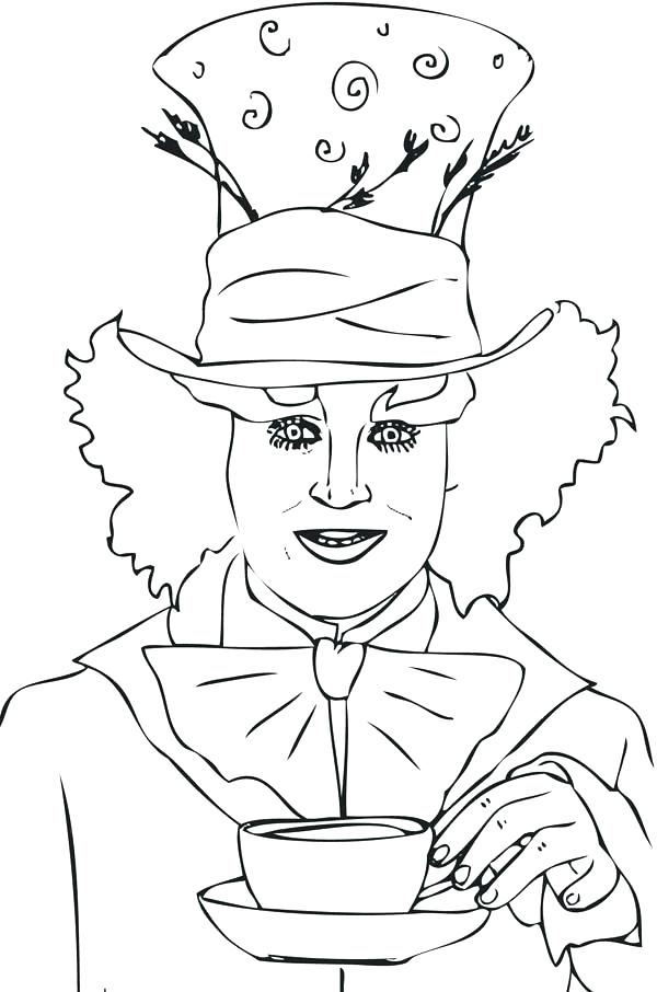 600x906 Boston Tea Party Coloring Page Mad Hatter Coloring Pages Packed