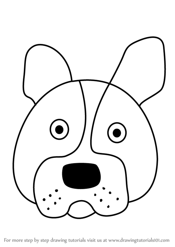 567x800 Learn How To Draw A Boston Terrier Dog Face For Kids (Animal Faces